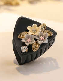 Fashion Black Flower Shape Decorated Hair Clip
