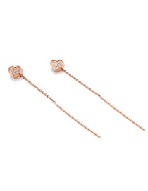 Fashion Rose Gold Heart Shape Decorated Earrings