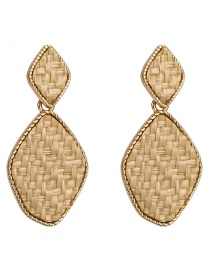 Fashion Khaki Irregular Shape Decorated Earrings