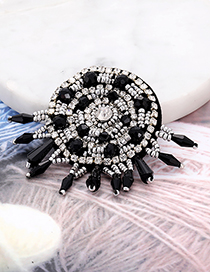 Fashion Black Tassel Decorated Round Shape Patch