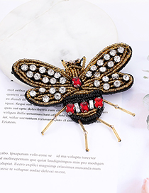 Fashion Yellow Bee Shape Decorated Patch