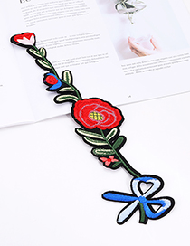 Fashion Multi-color Flower&bowknot Shape Decorated Patch
