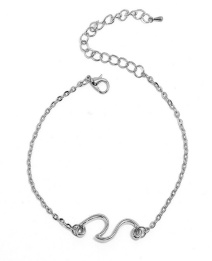 Fashion Silver Color Pure Color Decorated Anklet