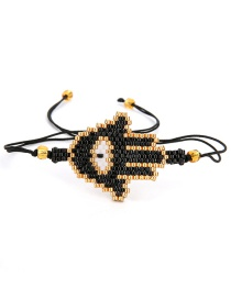 Fashion Black Palm Shape Design Hand-woven Bracelet