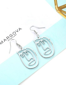 Sweet Silver Color Mask Shape Design Pure Color Earrings