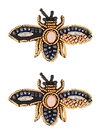 Fashion Gold Color Bee Shape Design Earrings