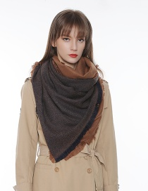 Fashion Navy Tassel Decorated Color-matching Scarf
