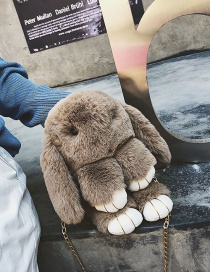 Fashion Khaki Rabbit Shape Design Bag