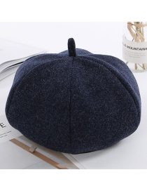Simple Navy Pure Color Decorated Berets