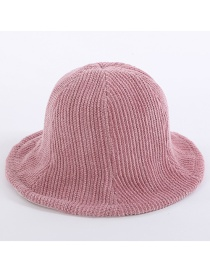Simple Pink Pure Color Decorated Hat