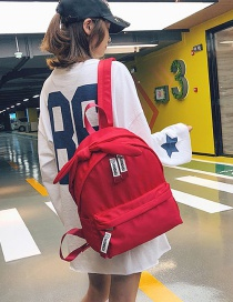 Simple Red Bowknot Shape Decorated Backpack