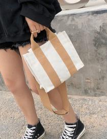 Fashion Brown Square Shape Design Detachable Shoulder Bag