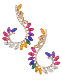 Elegant Multi-color Diamond Decorated Color Matching Earrings
