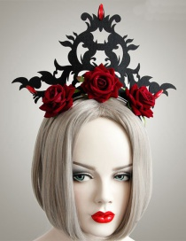 Fashion Red+black Flower Shape Decorated Hair Accessories