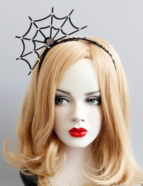 Fashion Black Cobweb Shape Deisgn Hairband