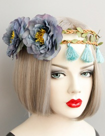 Fashion Multi-color Flower Shape Decorated Tassel Hair Accessories