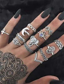 Fashion Silver Color Hollow Out Design Ring Sets