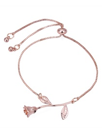 Fashion Rose Gold Rose Shape Design Bracelet