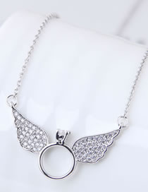 Fashion Silver Color Wing Shape Decorated Necklace