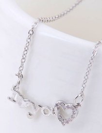Fashion Silver Color Letter Shape Decorated Necklace