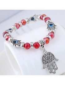 Fashion Red Palm Shape Decorated Bracelet