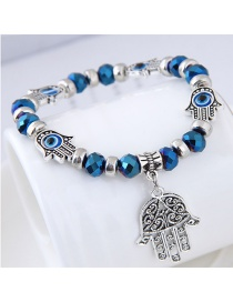 Fashion Blue Palm Shape Decorated Bracelet
