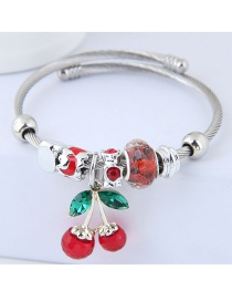 Fashion Red Cherry Shape Decorated Bracelet