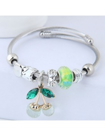 Fashion Light Green Cherry Shape Decorated Bracelet