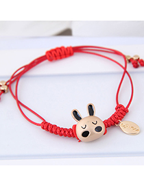Fashion Red Rabbit Shape Decorated Bracelet