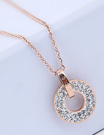 Sweet Gold Color Hollow Out Round Shape Design Necklace