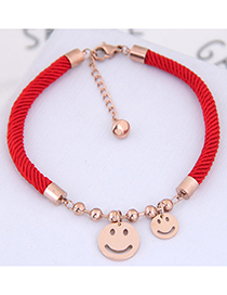 Fashion Red Smile Shape Decorated Bracelet