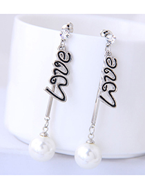 Fashion Gold Love Pearl Earrings