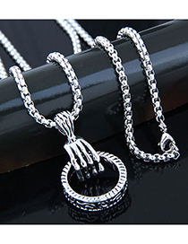 Fashion Silver Metal Long Necklace