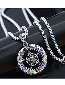 Fashion Silver Metal Hot Wheels Long Necklace