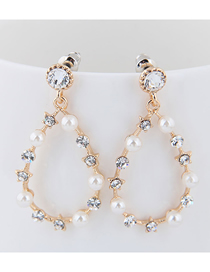 Fashion Gold Water Droplet Earring
