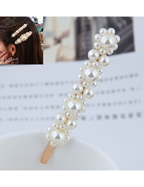 Fashion Gold (golden Bottom) Pearl Small Flower Hairpin