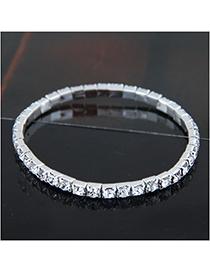 Fashion Silver (single Row) Metal Diamond Bracelet