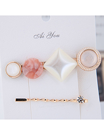 Fashion Gold Metal Two-piece Hair Clip