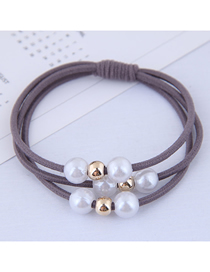 Fashion Gray Pearl Hair Ring