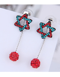 Fashion Color Compilation Of Star Ball Stud Earrings