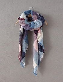 Fashion Multi-color Stripe Pattern Decorated Scarf