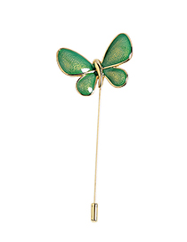Fashion Green Butterfly Shape Design Brooch