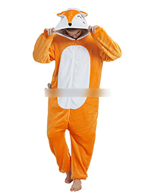 Fashion Orange Fox Shape Decorated Jumpsuit(for Adult)