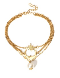 Fashion Gold Color Moon&star Shape Decorated Anklet