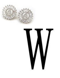 Fashion Silver Color Letter W Shape Decorated Earrings