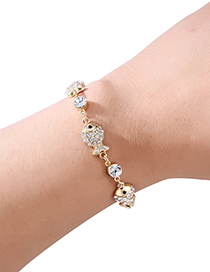 Fashion Gold Color Fish Shape Decorated Bracelet