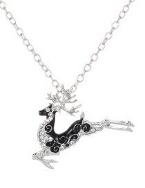 Fashion Silver Color Deer Shape Decorated Necklace