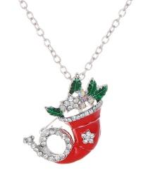 Fashion Silver Color Full Diamond Decorated Necklace