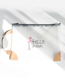 Fashion Pink+black Flamingo Pattern Decorated Storage Bag