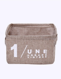 Fashion Khaki Letter Pattern Decorated Storage Basket